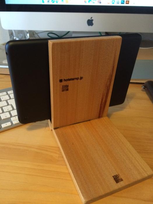 木製ipadスタンドを作って、焼印押してみました!!!