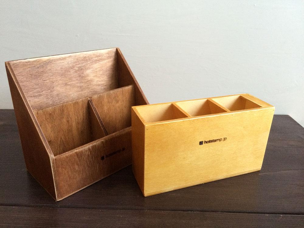 小さな木箱に焼印を.....ちょっと手を加えれば ....
