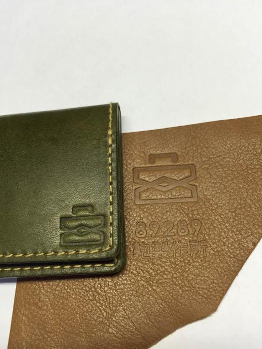 オーダーメイド鞄製作のお客様よりロゴ焼印の写真お送りいただきました!