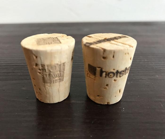 ワインのコルク栓に焼印!