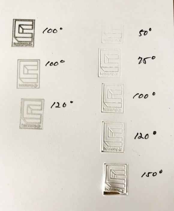 """プラ板""""塩ビ板""""に焼印と箔押しテストしました。"""